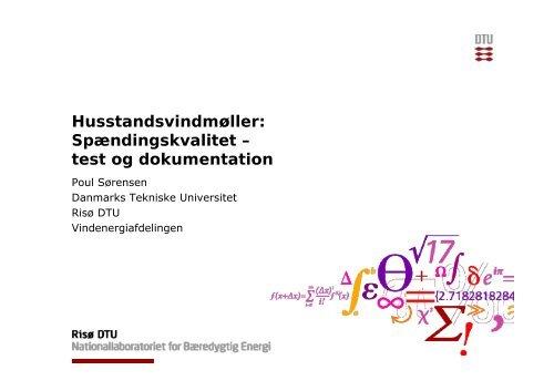 Temadag 2011 SFJ 06_Spændingskvalitet_Test og ... - Energinet.dk