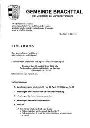 Einladung zur Sitzung der Gemeindevertretung am 11. Juni 2013