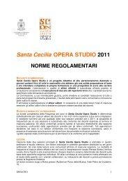 Santa Cecilia OPERA STUDIO 2011 - Accademia Nazionale di ...
