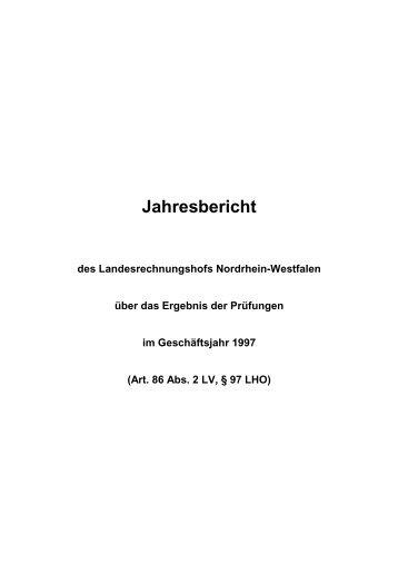 1998 - Landesrechnungshof des Landes Nordrhein-Westfalen (LRH ...
