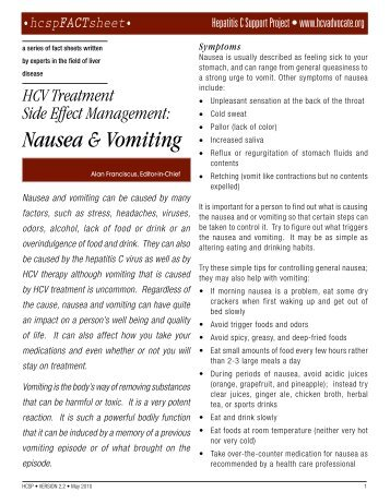 how to help nausea and vomiting