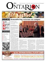 remembering veterans on campus - The Ontarion