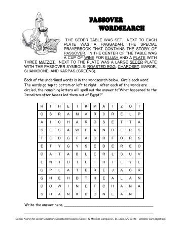 PDF Passover Wordsearch (English).pub - Central Agency for ...