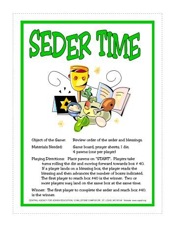 PDF Seder Time FF game 2008.pub - Central Agency for Jewish ...