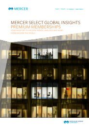 Mercer Select Global Insights Premium Memberships - iMercer.com
