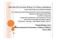 gestión financiera pública en india: reformas y alcance