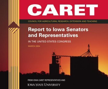 Caret Report - College of Agriculture - Iowa State University