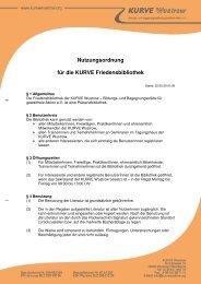 Nutzungsordnung für die KURVE Friedensbibliothek - Kurve Wustrow