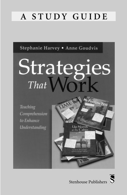 A STUDY GUIDE - Stenhouse Publishers