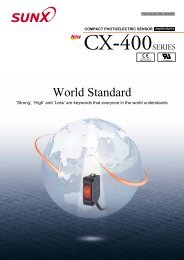 Sunx CX-400 Literature - ISE Controls