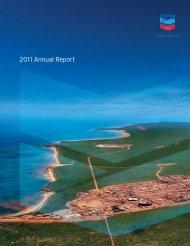 Annual Report 2011 Chevron
