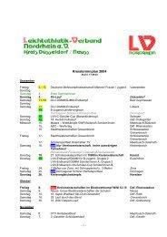 Kreisterminplan 2004 - LVN-Kreis Düsseldorf/Neuss