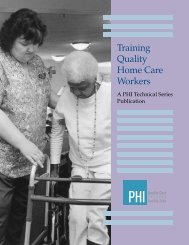 Training Quality Home Care Workers - PHI