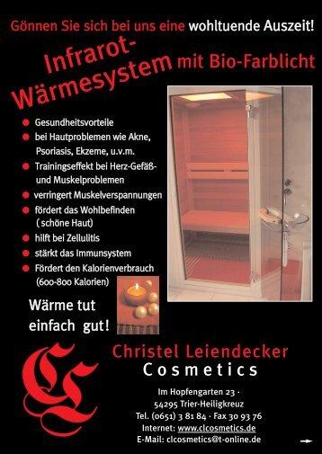 Infrarot- Wärmesystem - CL Cosmetics