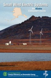 Small Wind Electric Systems: An Alaska Consumer's Guide (Revised)