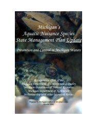 Michigan's Aquatic Nuisance Species State Management Plan Update