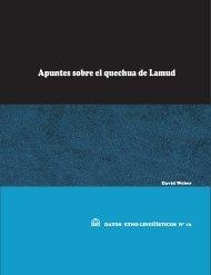 Apuntes sobre el quechua de Lamud