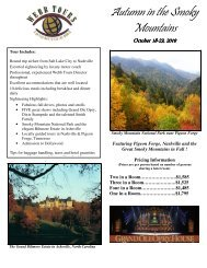 Autumn in the Smoky Mountains - Webb Tours
