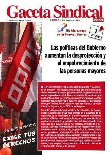 pub132243_Gaceta_Sindical_n_215__Las_politicas_del_Gobierno_aumentan_el_empobrecimiento_y_la_desproteccion_de_las_personas_mayores