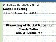 Social Housing Financing of Social Housing