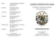 SOMMERSEMESTER 2012 - Ludovicia Ingolstadt