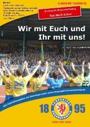 Heft 16: Rot-Weiß Erfurt - FanPresse Braunschweig