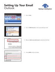 Setting Up Your Email Outlook - Buckeye CableSystem