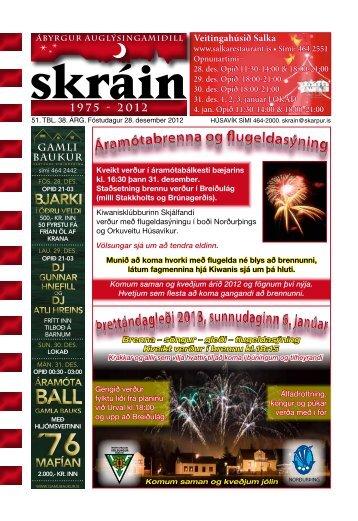 Skráin 51 . tbl. - 28. desember 2012 - Skarpur.is