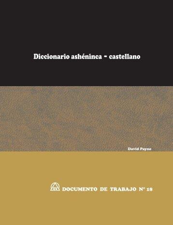 Diccionario ashéninca ~ castellano