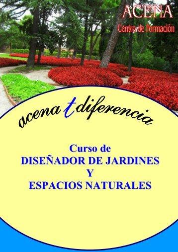 Curso de DISEÑADOR DE JARDINES Y ESPACIOS NATURALES