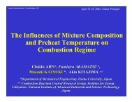 The Influences of Preheat Temperature and Mixture Compositions ...