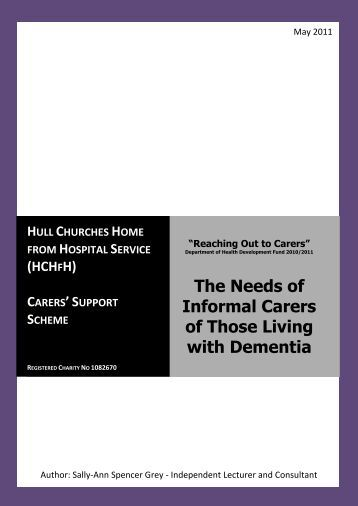 The Needs of Informal Carers of Those Living with Dementia (pdf ...
