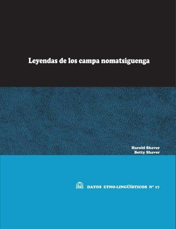 Leyendas de los campa nomatsiguenga - Sil.org