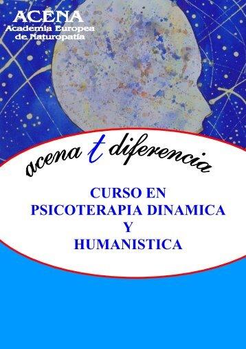 CURSO EN PSICOTERAPIA DINAMICA Y HUMANISTICA