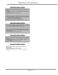 Wednesday Full Schedule Latin American Studies