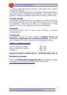 TÉCNICO EN PROMOCIÓN Y SEGURIDAD PARA LA SALUD OCUPACIONAL - Page 5