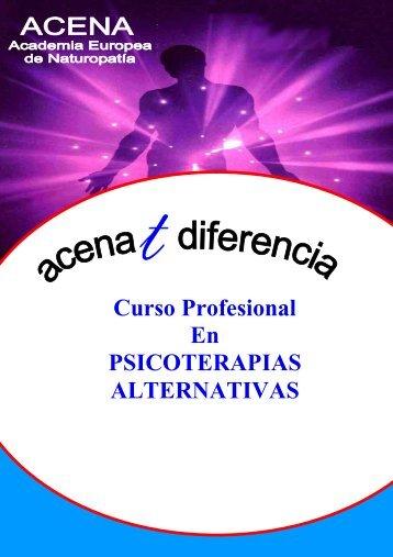 Curso Profesional En PSICOTERAPIAS ALTERNATIVAS