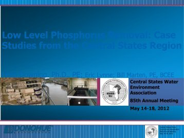 Low Level Phosphorus Removal - Central States Water Environment ...