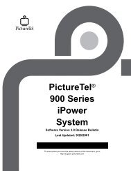 PictureTel 900 Software Version 3.0 Release Notes - Things A/V