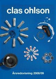 Årsredovisning 2008/2009 - Clas Ohlson