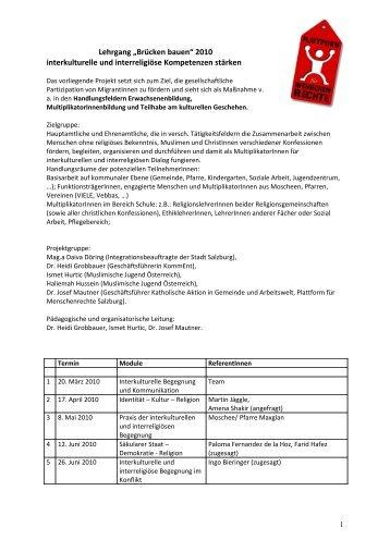 Termine und Informationen - Plattform für Menschenrechte Salzburg