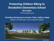 Cady Way Protected Bike Lane Route - Brookshire Elementary PTA