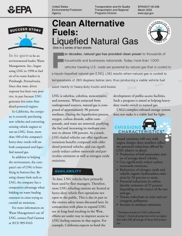 Clean Alternative Fuels: Liquefied Natural Gas - slate