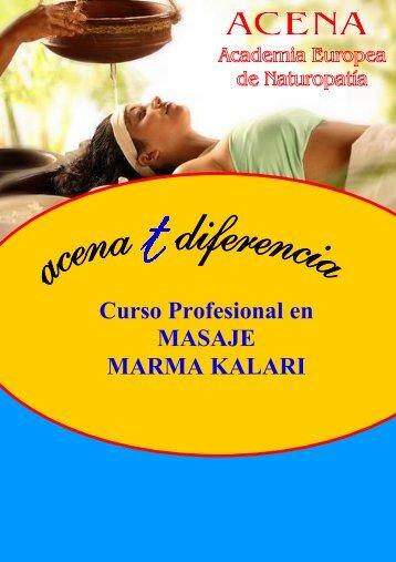 Curso Profesional en MASAJE MARMA KALARI