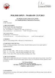 Komunikat - Polski Związek Taekwondo