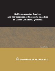 Suffix-as-operator Analysis and the Grammar of ... - SIL Home Page