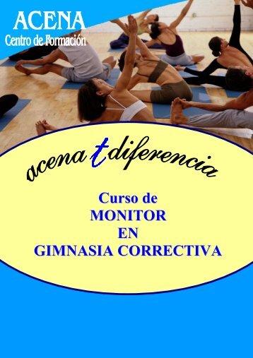 Curso de MONITOR EN GIMNASIA CORRECTIVA