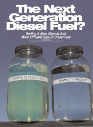 The Next Generation Diesel Fuel? - Advanced Refining Concepts