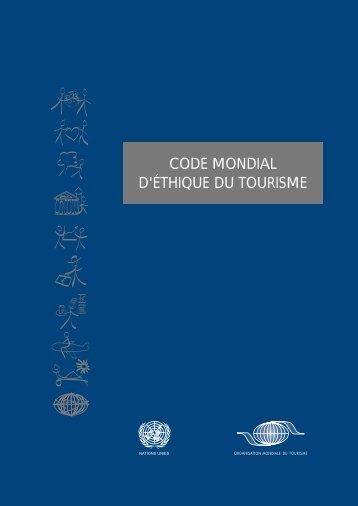MJE. CODIGO ETICO FRANCES jss - Le tourisme solidaire