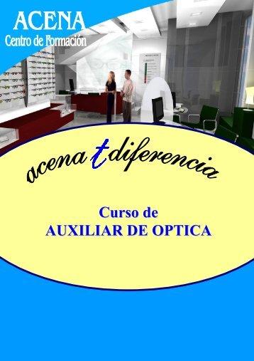 Curso de AUXILIAR DE OPTICA